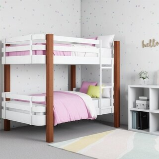 Novogratz Birdie Dark Pine and White Bunk Bed