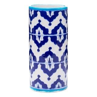 Handmade Blue Pottery Vase - Indigo