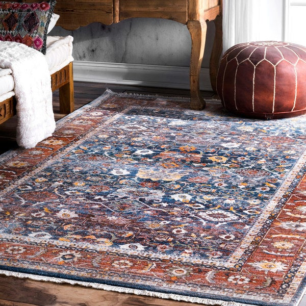 nuLOOM Victorian Ombre Blue Area Rug - 8' x 10'
