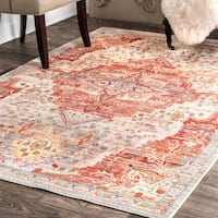 nuLOOM Traditional Ornemental Border Multi Area Rug - 5'3 x 7' 7""