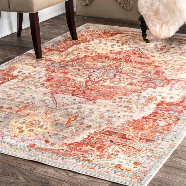 nuLOOM Traditional Ornemental Border Multi Area Rug - 7'10'' x 10'10''