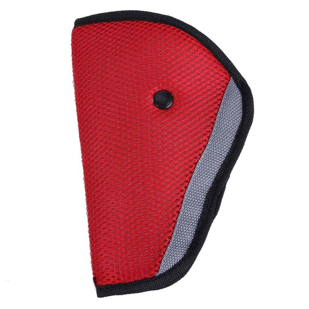 Karma Baby Triangle Kids Automobile Seat Belt - Red (Red)