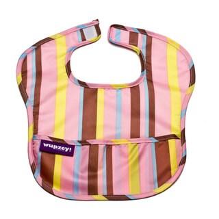 Wupzey Waterproof Food Catcher Bib - 1pk - Pink Stripe - Beginner