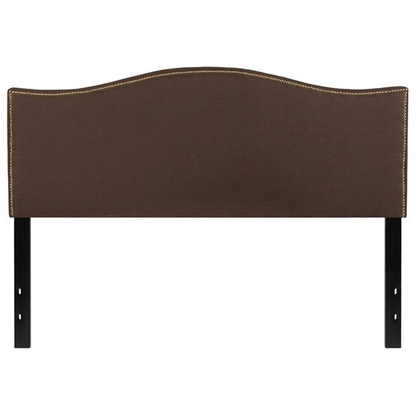 Shop Regal Queen Size Dark Brown Fabric Headboard With