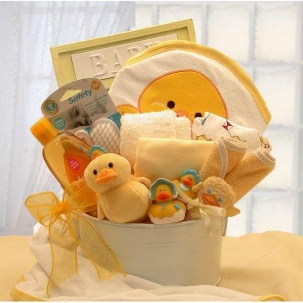 Bath Time New Baby Gift Basket