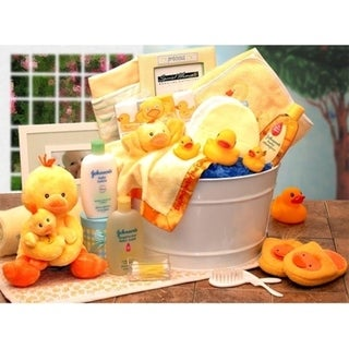 Bath Time New Baby Gift Basket-Yellow
