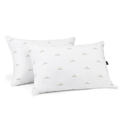 Nautica Anchor Logo Extra Firm Jumbo-size Pillow (Set of 2)