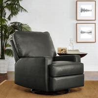 Avenue Greene Maya Charcoal Swivel Gliding Recliner
