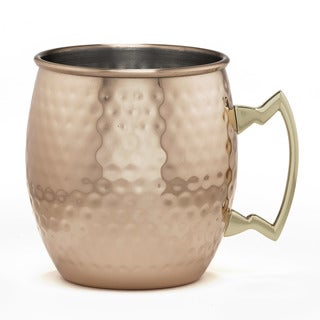 Cambridge Silversmiths 4 Piece Moscow Mule Mug Set, 20 oz, Hammered Copper