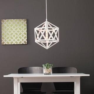 Harper Blvd Austwell White Geometric Cage Pendant Lamp