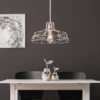 Harper Blvd Valassina Brushed Nickel Wire Cage Pendant Lamp