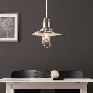 Harper Blvd Taylon Brushed Nickel Industrial Cage Pendant Lamp