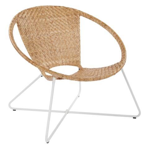 INSPIRED by Bassett Navarre Woven Rattan Lounge Chair