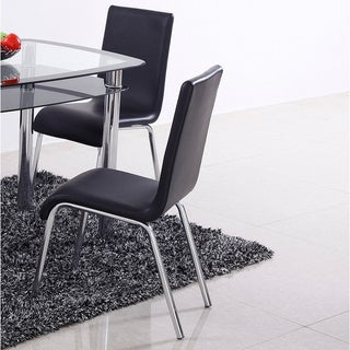 Best Master Furniture T06 Leather Dining Chairs (Set of 4)