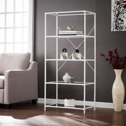 Penrose White 5-Tier Bookshelf