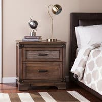 Carbon Loft Ostwald Antiqued Whiskey Maple Double-drawer Nightstand