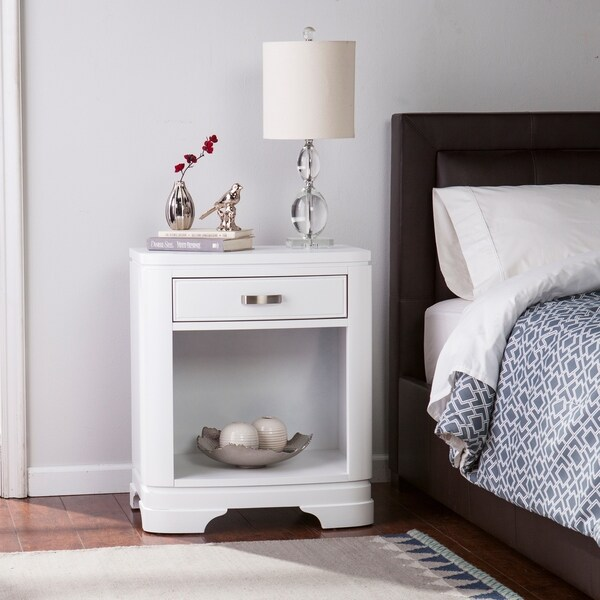 Dalstrom White Single-Drawer Nightstand