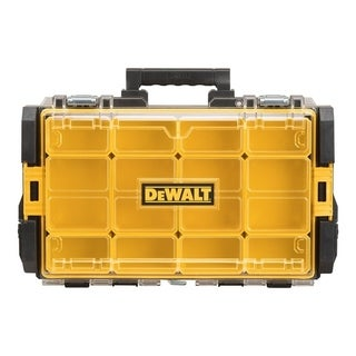 DeWalt ToughSystem Organizer with Clear Lid 22 in. L Plastic Black/Yellow