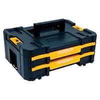 DeWalt  TSTAK  Double Shallow Drawers Tool Box  Plastic  17.25 in. L