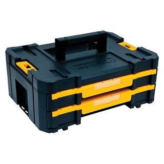 DeWalt TSTAK Double Shallow Drawers Tool Box Plastic 17.25 in. L