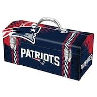 Sainty International  New England Patriots  16.3 in. Tool Box  Steel