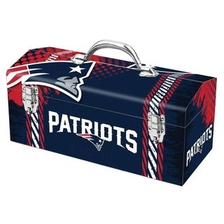 Sainty International New England Patriots 16.3 in. Tool Box Steel