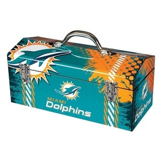 Sainty International Miami Dolphins 16.3 in. NFL Tool Box Steel