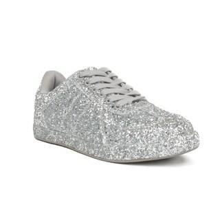 Xehar Womens Lace Up Low Top Glitter Fashion Sneaker