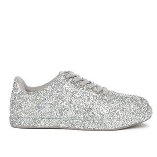 Xehar Womens Lace Up Low Top Glitter Fashion Sneaker (More options available)