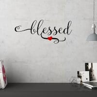 Blessed With Heart Vinyl Wall Decal Wall Accent Decor