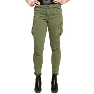 Xehar Womens Casual Skinny Slimming Multi Pockets Cargo Pants