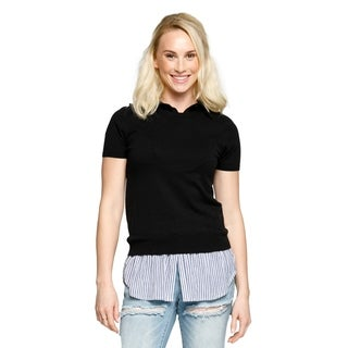 Xehar Womens Casual Lightweight Short Sleeve Collared Shirt