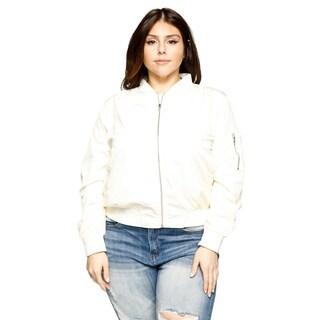 Xehar Womens Plus Size Classic Stylish Short Bomber Jacket