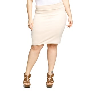 Xehar Womens Plus Size High Waisted Short Mini Bodycon Pencil Skirt