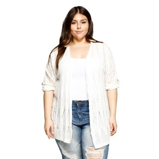 Xehar Womens Plus Size Lightweight Open Front Cardigan Sweater