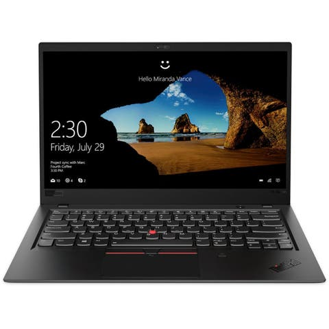 "Lenovo ThinkPad X1 Carbon 6th Gen 20KH002FUS 14"" Ultrabook - 2560 x 1440 - Core i7 i7-8650U - 16 GB RAM - 1 TB SSD - Black"
