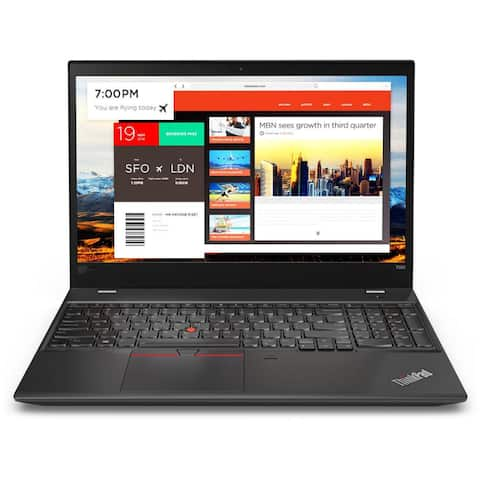 "Lenovo ThinkPad T580 20L9001VUS 15.6"" Notebook - 1920 x 1080 - Core i5 i5-8250U - 8 GB RAM - 500 GB HDD - Graphite Black"