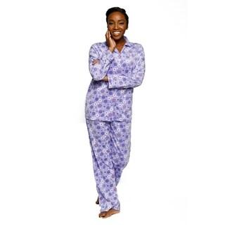 Xehar Womens Soft Plush Flower Print Pajama Set ( 2 Piece Set)