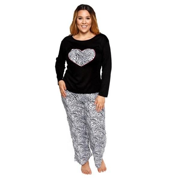 ... newest 8e578 20d6a Xehar Womens Plus Size Soft Plush Zebra Pajama Pjs  Set ( 2 Piece ... 01b29db82