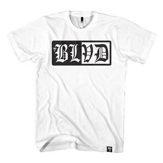 BLVD Supply Men's Splitter Short Sleeve Crewneck Cotton Printed T-Shirt Tee