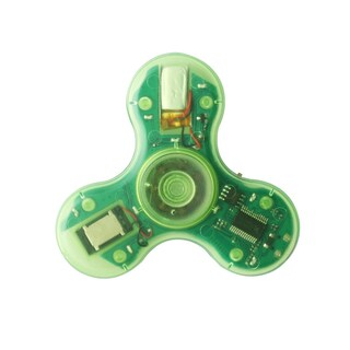 Transparent LED Spinners with Bluetooth Speaker