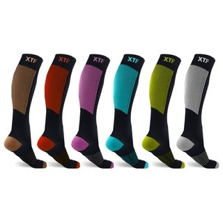 6-Pairs : Unisex Copper-Infused Compression Socks