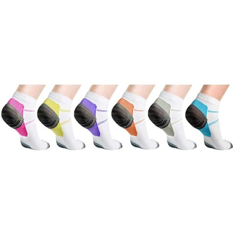 Unisex Ankle Compression Socks - 6 Pair
