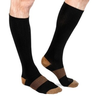 Unisex Copper-Infused Pain-Relief Compression Socks (6 Pairs)