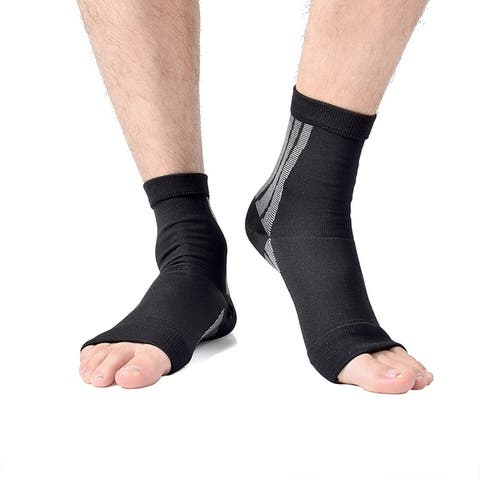 Unisex Open Toe Compression Circulation Socks