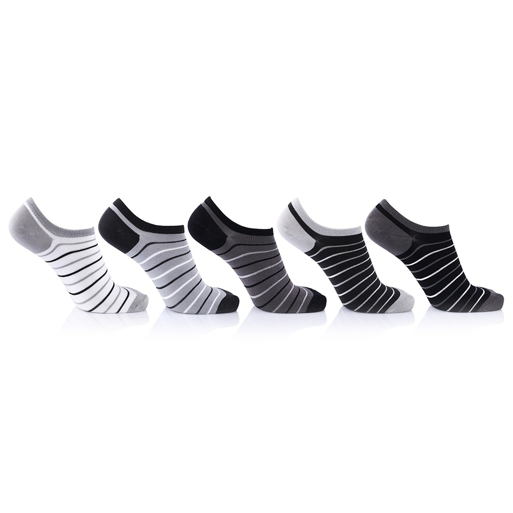 Extreme Fit Unisex Bamboo Charcoal Ankle Socks (5-Pairs) ...