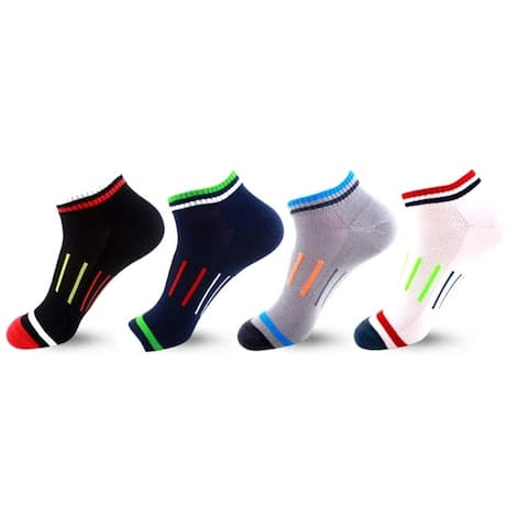 Low-Cut Quick-Dry Compression Socks (4-Pack)