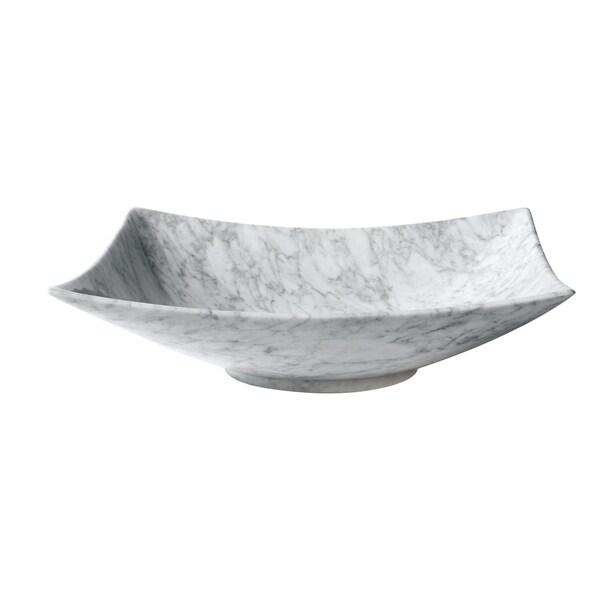 "Avanity 20.1-inch Rectangular Stone Vessel in Carrara White Marble - 20.1""W x 5.5""D"