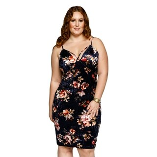 Xehar Womens Plus Size Sexy Sleeveless Floral Bodycon Short Dress (2 options available)