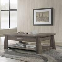 Furniture of America Ren Rustic Dark Taupe 2-drawer Coffee Table